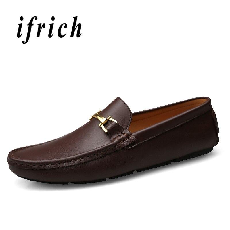 2019 nouvelle tendance à la main hommes chaussures en cuir mocassins chaussure pour hommes marque de luxe chaussures pour hommes marron foncé hommes mocassins