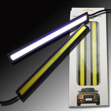 2pcs/set 17cm LED COB 84 Chip Pure White Car Auto Driving Lights DRL Daytime Running Lamp Waterproof Bar Strip DC12V Top Quality