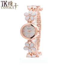 fashion design Women's Watch rose gold flower bracelet watch Girls Ladies luxury dress quartz watch clock relogios feminino