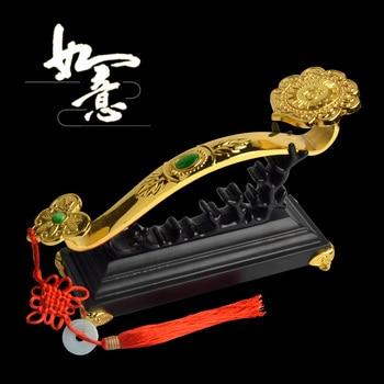 GOOD gift # 2020 office home Mascot efficacious Talisman Money Drawing Fortune Golden RUYI FENG SHUI Sculpture ART statue
