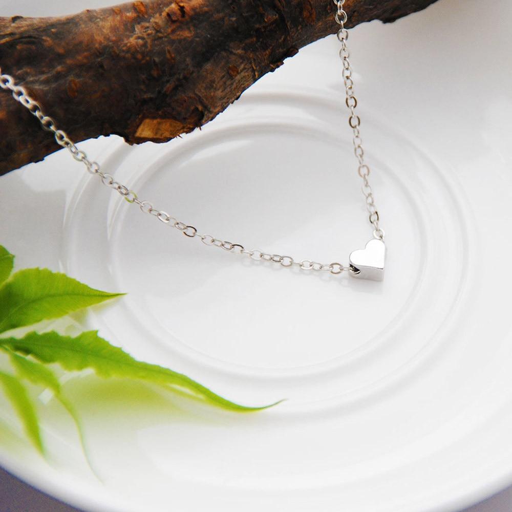 Cristal coeur feuille lune pendentif collier femmes romantique mode classique strass dames fille vacances plage déclaration bijoux 4