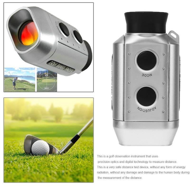 Digitale 7x Ottica Telescopio Laser Golf Range Finder Golf Scope Yards Misura Distanza All'aperto Tasca Meter Telemetro