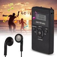 Mayitr 1 st Draagbare Pocket DAB/DAB +/FM Radio LCD Digitale Display DAB Ontvanger + Oortelefoon voor DAB/FM Modi