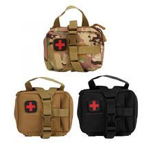 Sacs portables de fournitures militaires de premier secours, sac Portable de stockage de médicaments de survie en Nylon, avec fermeture éclair bidirectionnelle, conception à boucle suspendue