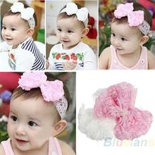 Hot Cute Baby Girl Kid Toddler Pearl Headband Headwear Hat Accessories Rose Bow Lace Hairband Flower Headdress 1G41 7FA8