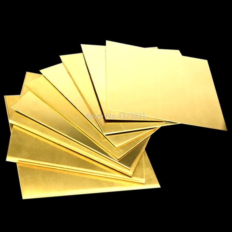 1pc Brass Copper Plate Sheet Of CuZn40 2.036 CW509N C28000 C3712 H62 Cu Laser Cutting CNC Frame Model Mould DIY Contruction