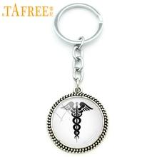 Keychain Vintage Car-Key-Holder Doctor Medical-Caduceus Jewelry Pendant Classic Women