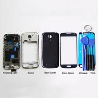 New Full Set For Samsung Galaxy S4 mini i9190 i9192 i9195 Housing Case + Middle Frame + Back Cover + Front Glass +Adhesive+Tools