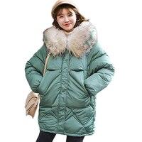 Big Fur Collar Parka Down Cotton Jacket 2019 Winter Jacket Women thick Snow Wear Coat Lady Clothing Female Jackets Parkas K100
