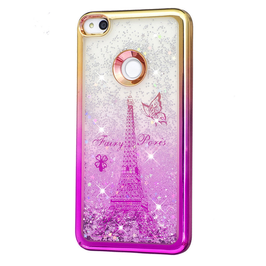 Huawei P8 lite 2017 Case Dynamic Liquid Glitter Sand Bling Back Cover Case For Huawei P8 Lite 2017 Soft TPU Phone Case