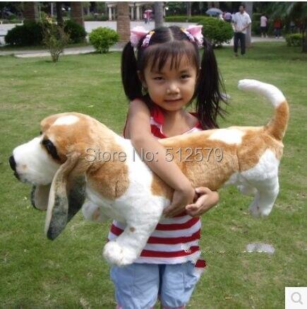 купить KINGTOY cute BARKING basset hound stuffed toy dog with real PP cotton. недорого
