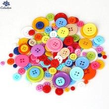 20-200 шт много размеров круглые полимерные мини крошечные кнопки швейные инструменты декоративные кнопки Скрапбукинг одежды DIY аксессуары для одежды