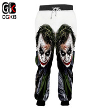 OGKB 2018 Lente Herfst Winter Casual Joggers Broek mannen Grappige Anime 3d Print Suicide Squad Joggingbroek Joker Clown Zweet broek(China)