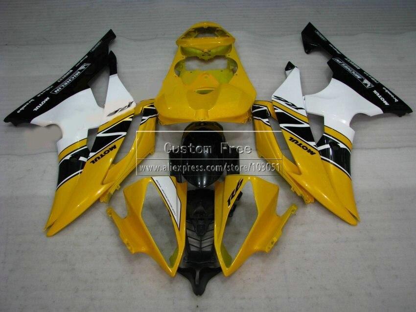 Прессформа впрыски новый мотоцикл обтекатель комплект для Ямаха YZF R6 в YZFR6 2008 2009-2014 желтый белый черный 08 - 13 14 обтекателя комплект JL71