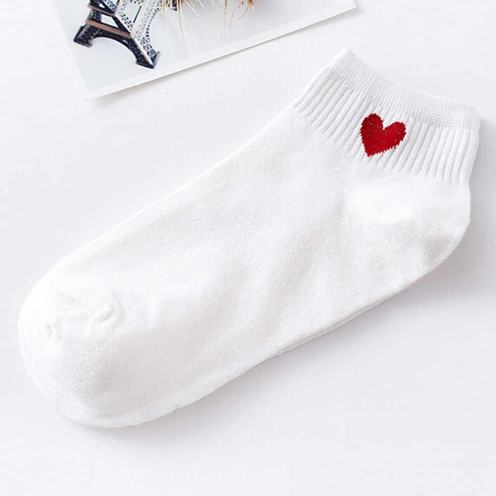 Jayconsin socks men and women love color matching breathable socks couple socks cotton slippers short invisible socks
