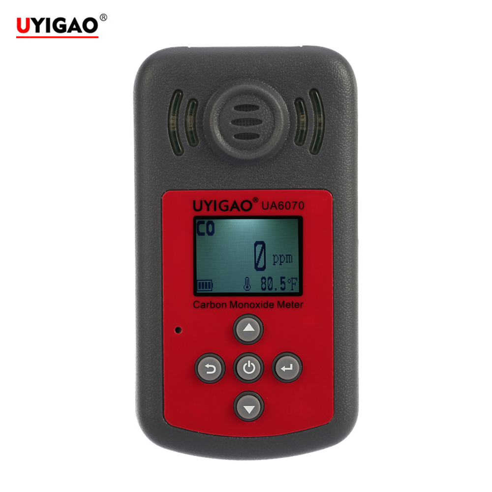 High Precision CO Meter Tester Handheld Carbon Monoxide gas detector Monitor with LCD Display Sound Light Alarm 0-2000ppm uyigao ua506 for ppm htv digital formaldehyde test methanol concentration monitor detector withlcd display sound and light alarm