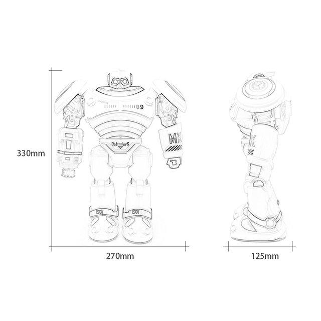 JJRC R1 RC Robot Programmable Defender Intelligent Remote Control Toy Dancing Armor Battle Robot Remote Control Toy For Child