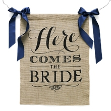 Free Shipping 1 X Handmade Bride To Be Bunting Garland Burlap Wedding Banner Bridal Shower Party Decoration