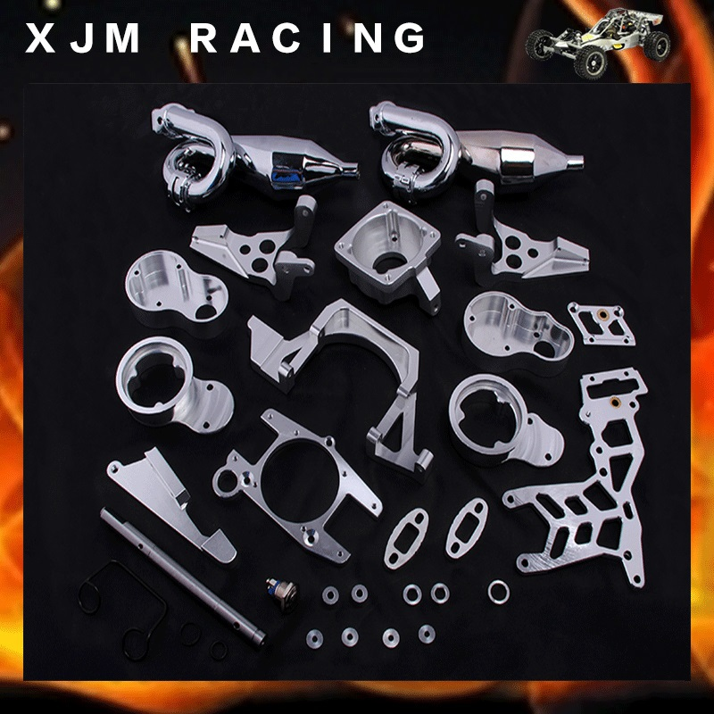 1/5 RC CAR Twin-Cylinder Engine Exhaust sets fit HPI BAJA 5B King Motor truck Free shipping cnc 2 cylinder kit baja twin cylinder kit for 1 5 scale hpi baja 5b 5t 5sc