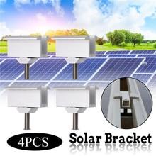 4/10 серебристые солнечные панельные кронштейны из нержавеющей стали панели солнечных батарей наборы для монтажа для большинства обрамленных солнечных панелей s на RV дом и лодка