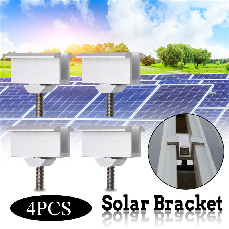 4/10 Sliver Solar Panel Brackets Stainless Steel Solar Panel Mounting Sets For Most Framed Solar Panels On The RV House And Boat