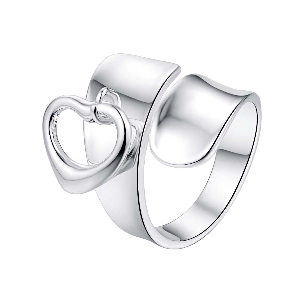 love heart cool adjustable for men Wholesale 925 jewelry silver plated ring big size ,fashion jewelry Ring for Women,