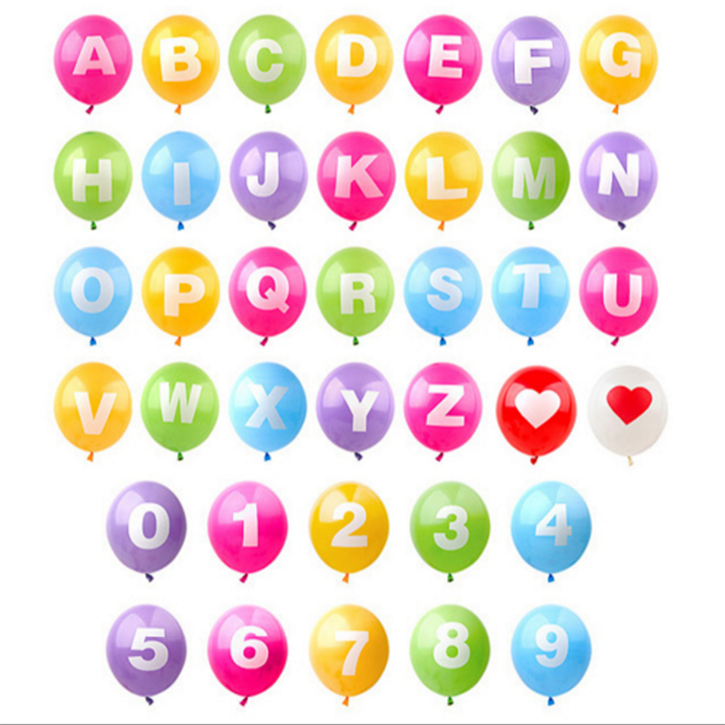 1pcs 12inch colorful letter balloons latex balloon With 12 inch letter balloons