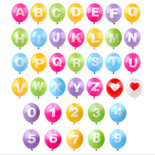 1pcs 12inch Colorful Letter Balloons Latex Balloon Birthday New Year Party Wedding Decoration Number Balloons