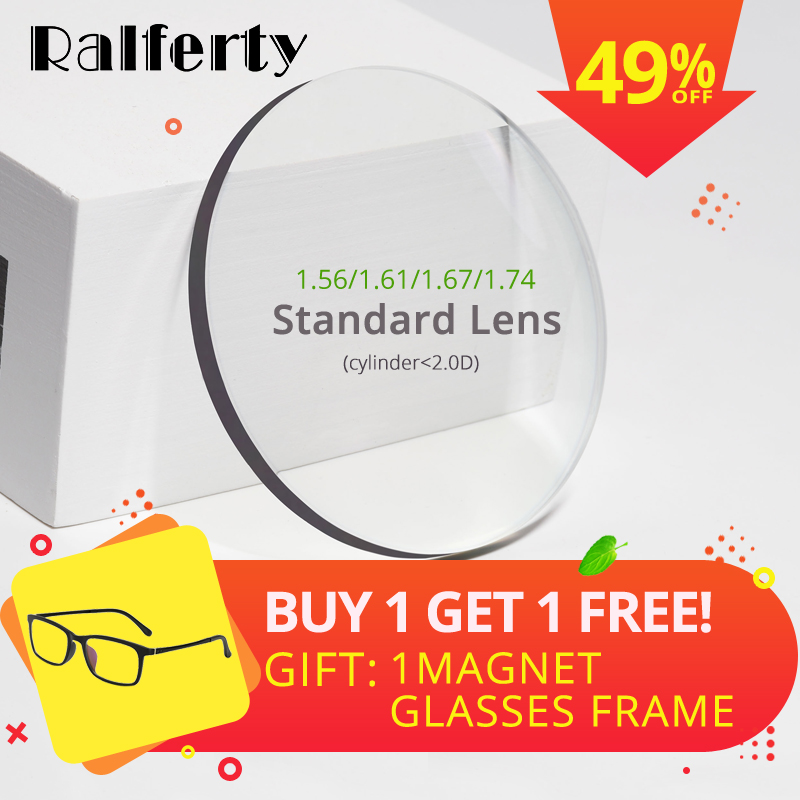 Ralferty 1,56 1,61 1,67 1,74 Optische Linsen Anti Blau Licht Brillen Objektiv Augen Klar Myopie Dioptrien Dünne HMC Lentes