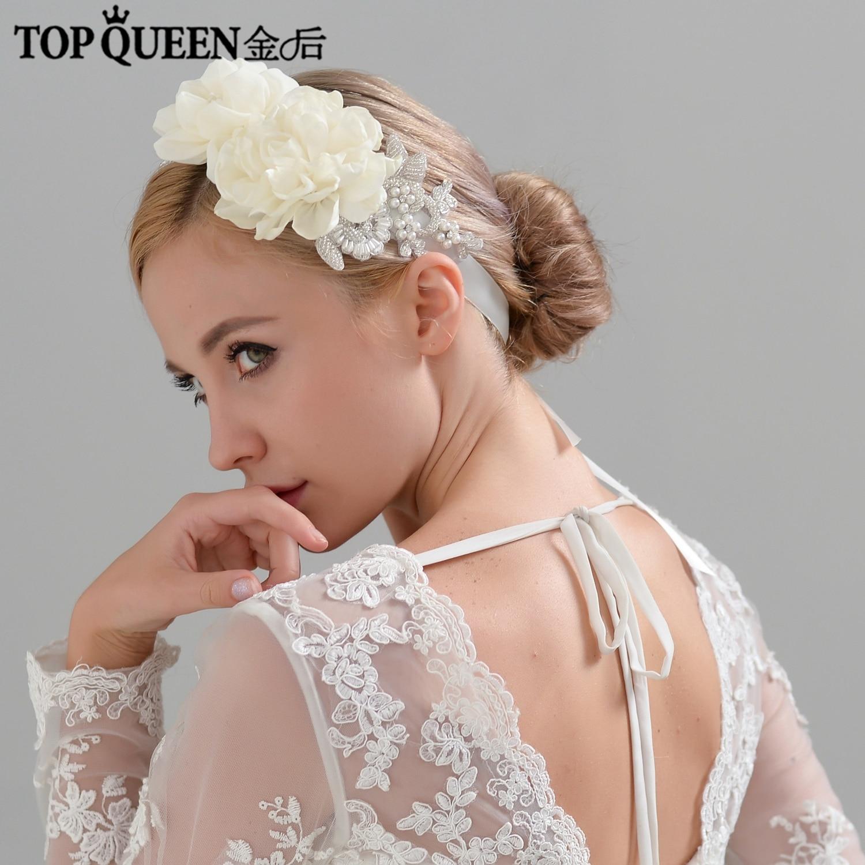 TOPQUEEN H172 Wedding Flower Headband  Bridal Headband With Flower Bridal Hair Accessories For Wedding  Floral Wedding Hairband