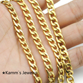 Accessories Men's High Quality Gold Plated Chunky Necklaces Chains Gold Plated Figaro Necklace 6MM 54CM Male Man KN018