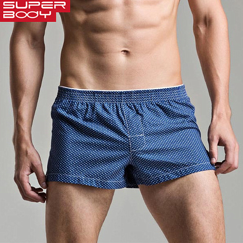 Men's Boxers Loose Leisure Home Shorts Cotton Underwear Men Boxer Shorts Fashion Dot Underpants Men Lounge Pajamas Panties