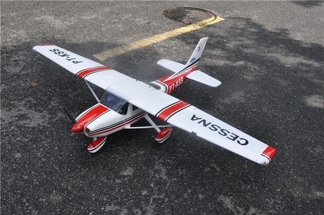 RC מטוס ססנה 182 אדום בלזה עץ קבוע כנף מטוסי ARF