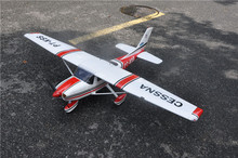 RC uçak Cessna 182 kırmızı Balsa ahşap sabit kanatlı uçak ARF