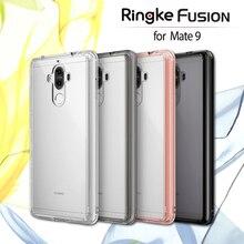 100% Оригинальные Ringke Fusion ясно ПК назад гибкие ТПУ Край амортизация Выдерживает падения с высоты чехол для Huawei Mate 9