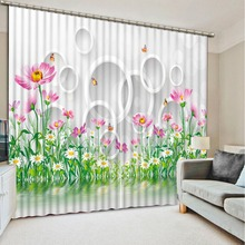 Modern 3d curtains for bedroom plant flower custom made curtains window curtains bedroom