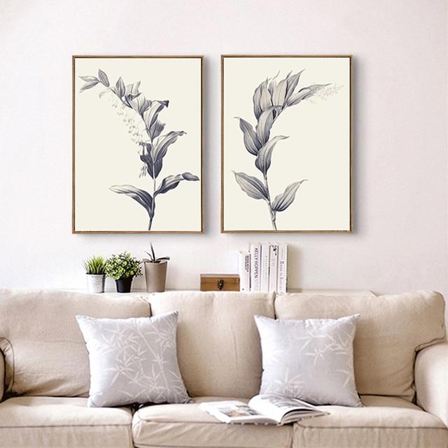 Personalisierte Skizze Nordic Minimalistische Weizen Verlässt Ölmalerei Auf  Leinwand Poster Beste Wandbild Für Wohnzimmer Leben Wandkunst