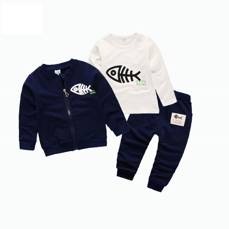 Fashion 2018 Spring Autumn Children Boys Girls Clothes Kids Zipper Jacket T-shirt Pants 3Pcs/Sets Baby Clothing Sets Tracksuits kids sport suits boys girls tracksuits children clothing baby infant outfits 4 color fashion sets 2018 spring autumn kid clothes