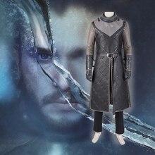 Manluyunxiao  Halloween Costume Game of Thrones T Shirt Jon Snow Cosplay Men Boys Vest Adult Cape