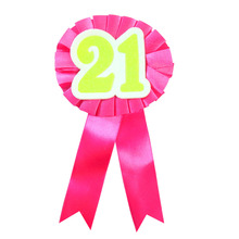 14 Colors of 21 adult ceremony ribbon badge girl women man birthday celeration b