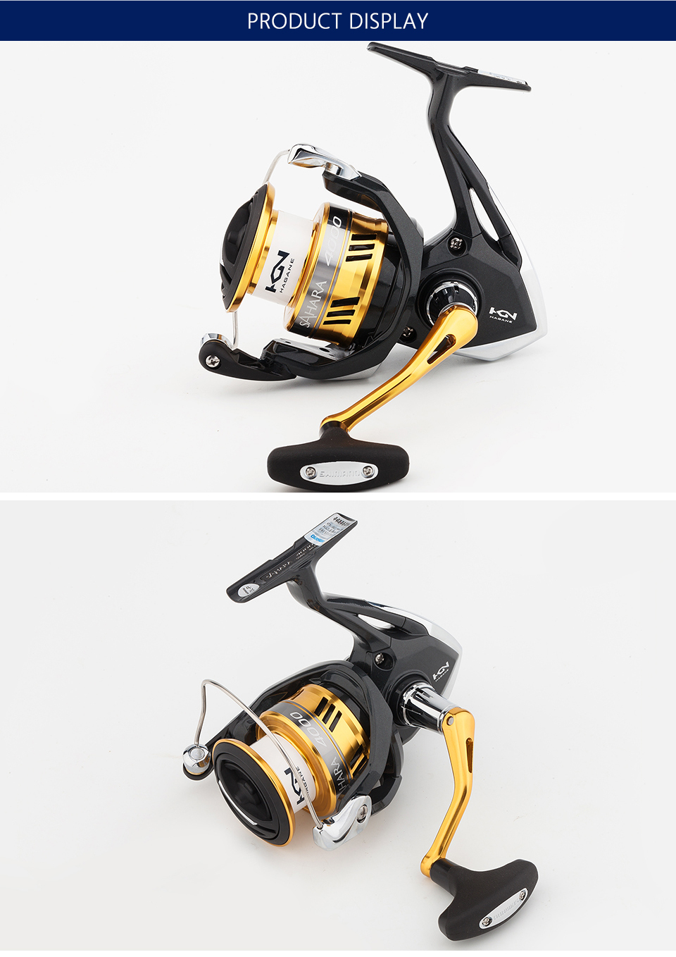 Spinning fishing reels different types