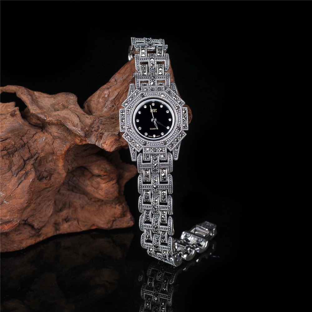 Hot Sale Sterling Silver Watch Top Quality S925 Silver Jewelry Watch Pure Silver Bracelet Watches Dropshipping