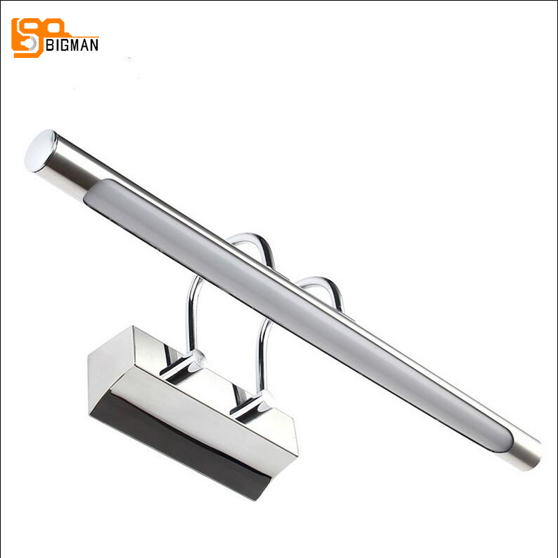 new design LED wall light modern wandlampen anti fog bathroom light  AC110V 220V dvolador luxury crystal led mirror front light 10w 15w ac110 220v bathroom waterproof anti fog led stainless steel wall light