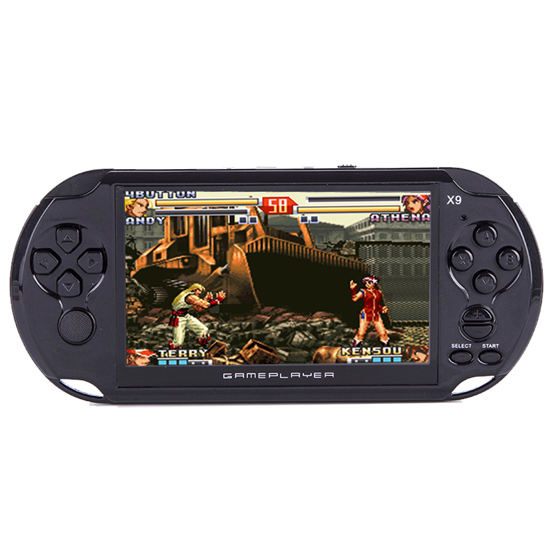 5.0 Grand Écran 8 GB De Poche Console de Jeu Vidéo Lecteur Support TV Out Avec MP3 Film Caméra Intégré Des Centaines de jeux
