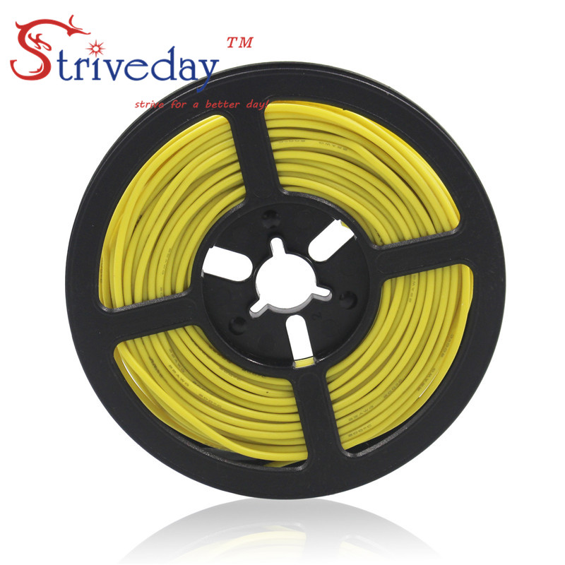 50 meters roll 16AWG high temperature resistance Flexible silicone wire tinned copper wire RC power cord