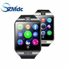 Q18 SZMDC Bluetooth Reloj Inteligente Con Cámara Whatsapp Facebook Twitter Smartwatch Sync SMS Apoyo TF Tarjeta SIM Para IOS Android