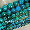 "Chrysocolla stone Round Loose Spacer Beads 15"" 6mm 8mm 10mm 12mm 14mm Free Shipping Pick Size-F00089"
