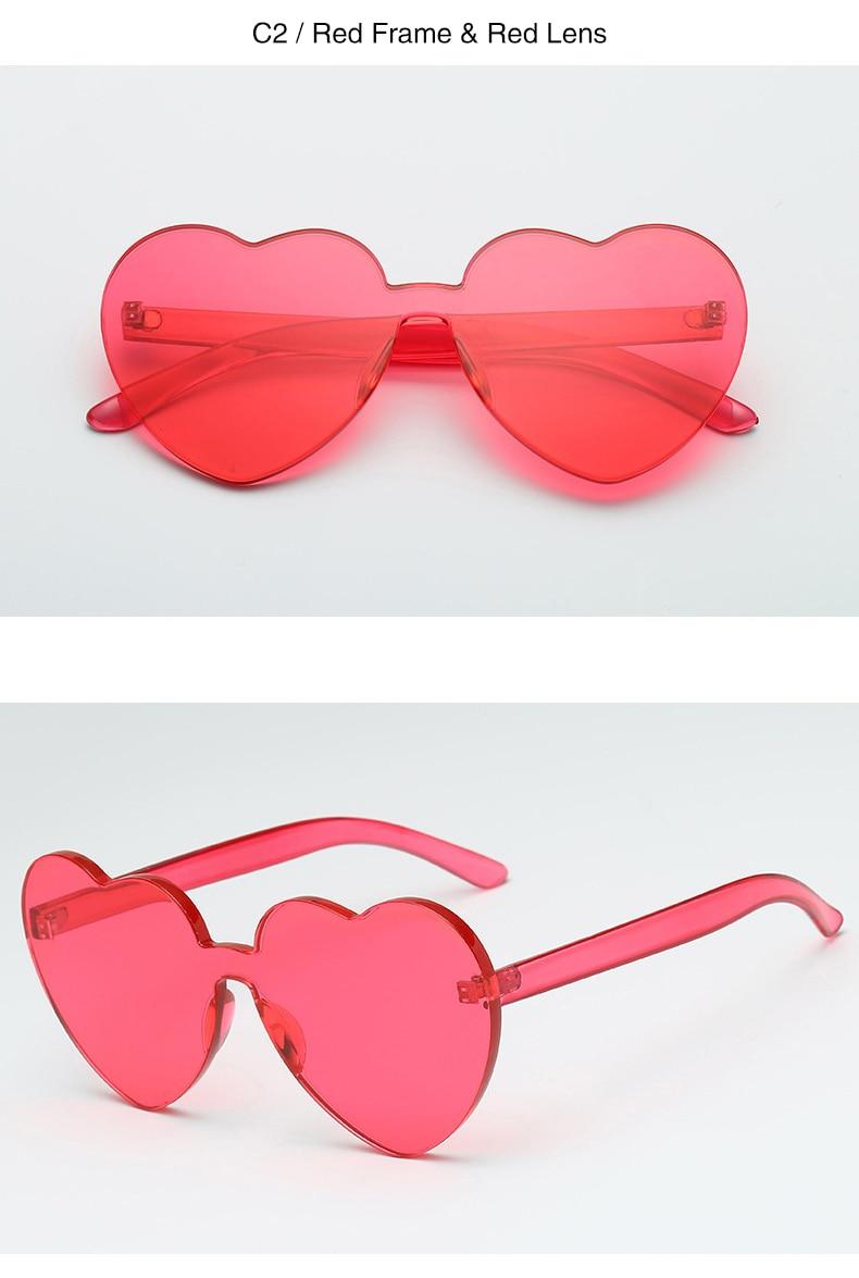 DIDI Oversize Integrierte Herzförmige Sonnenbrille Frauen Marke ...