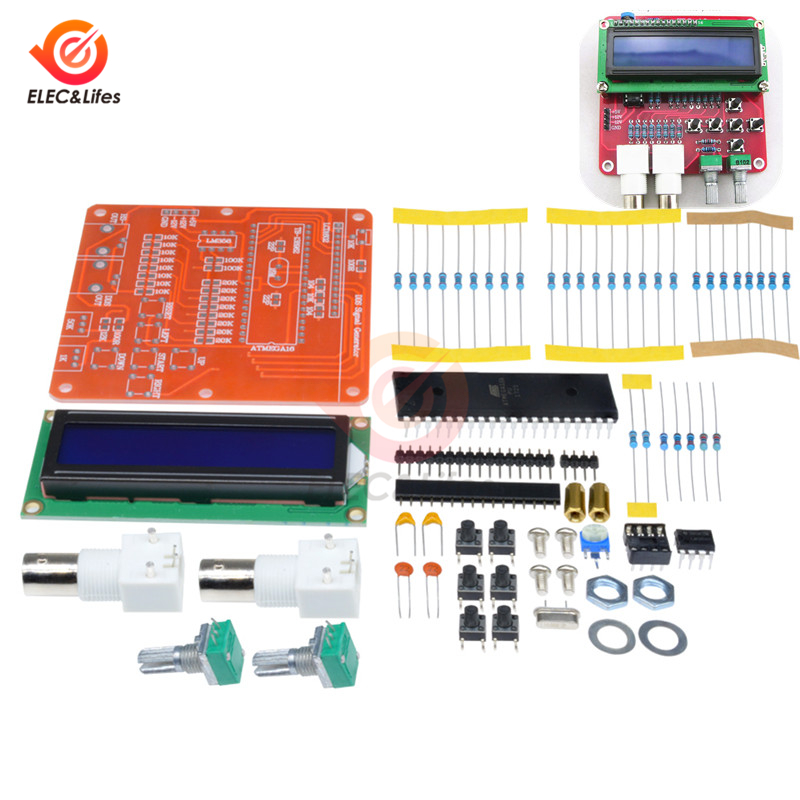 1 Set A96 DDS Function Signal Generator Sine Square Sawtooth Triangle Wave LCD Display Module Kit 5V 12V Power Supply