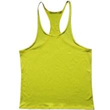 fitness Bodybuilding Racerback Tank Tops Men Fitness Sleeveless Vest Cotton